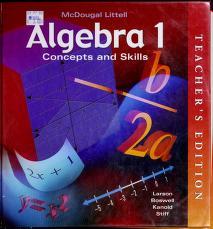 Cover of: Algebra 1 | Ron Larson