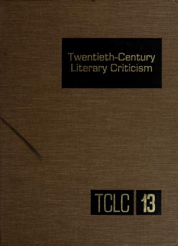 Cover of: Twentieth-Century Literary Criticism (Twentieth Century Literary Criticism) | Dennis Poupard