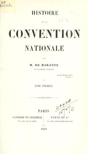 Histoire de la convention nationale.