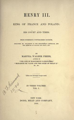 Download Henry III, King of France and Poland