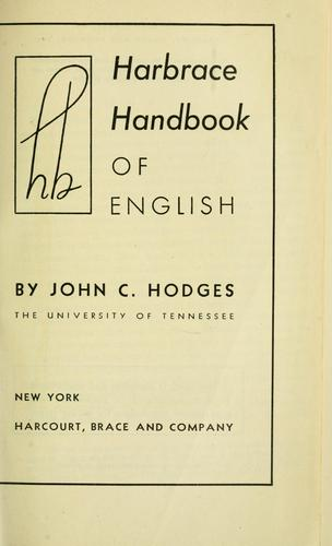 Download Harbrace handbook of English