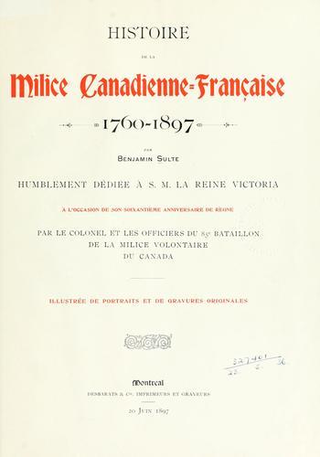 Download Histoire de la milice canadienne-française, 1760-1897