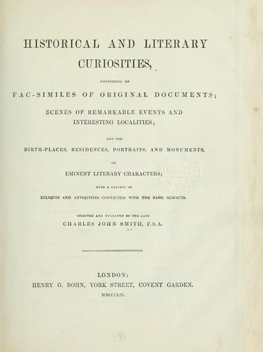 Download Historical and literary curiosities, consisting of facsimiles of original documents