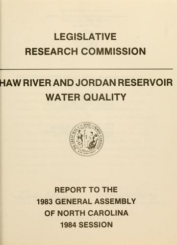 Haw River and Jordan Reservoir water quality