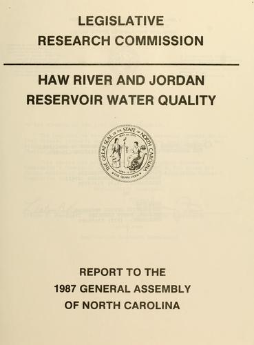 Download Haw River and Jordan Reservoir water quality
