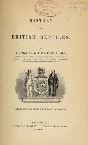 Download A history of British reptiles.