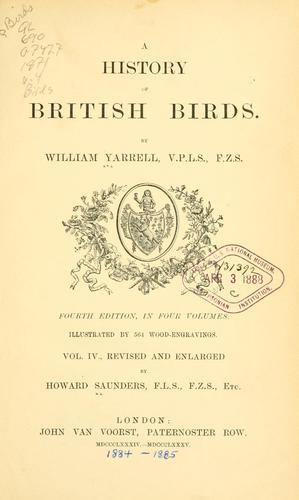 A history of British birds.