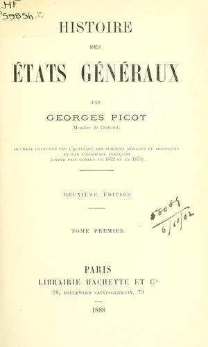 Histoire des États-Généraux.
