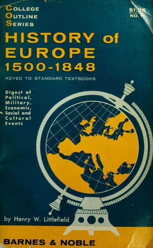 Download History of Europe, 1500-1848