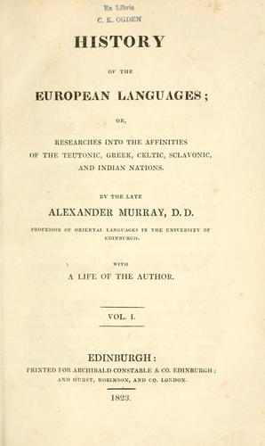 Download History of the European languages
