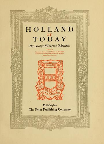 Download Holland of today