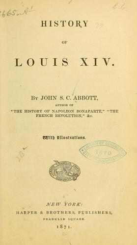 History of Louis XIV.