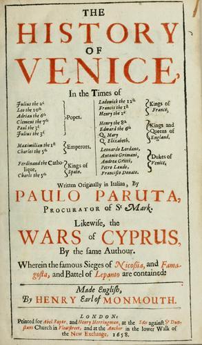The history of Venice …