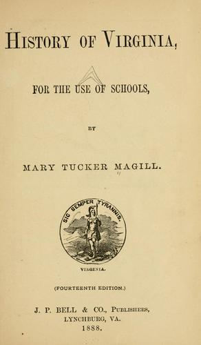 Download History of Virginia, for the use of schools