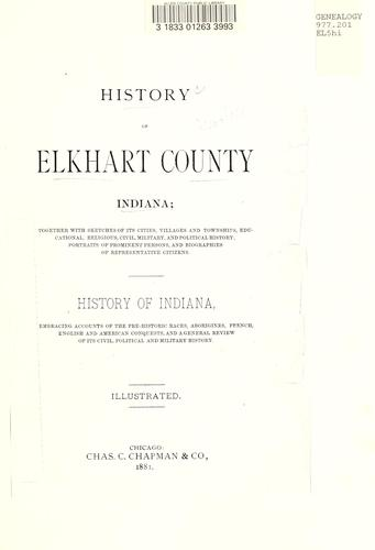 History of Elkhart county, Indiana (Open Library)
