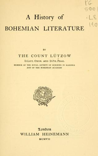 Download A history of Bohemian literature