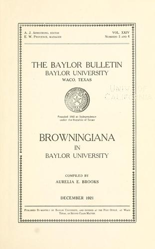 Browningiana in Baylor University