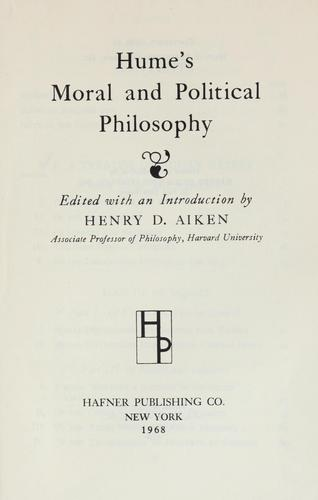 Download Hume's moral and political philosophy.
