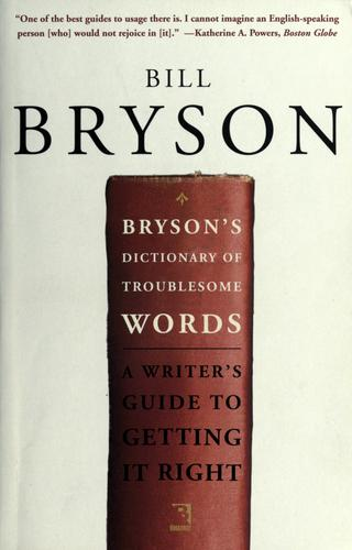 Download Bryson's dictionary of troublesome words