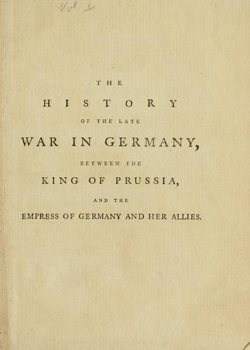 The history of the late war in Germany