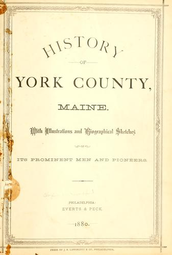 History of York County, Maine.