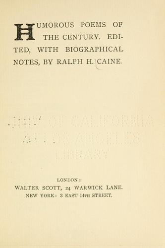 Humorous poems of the century.