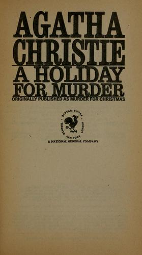 Download A holiday for murder