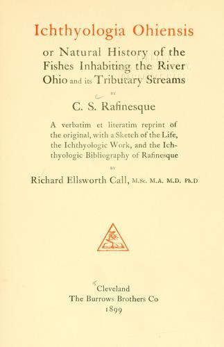 Ichthyologia ohiensis
