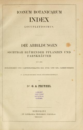 Download Iconum botanicarum index locupletissimus =