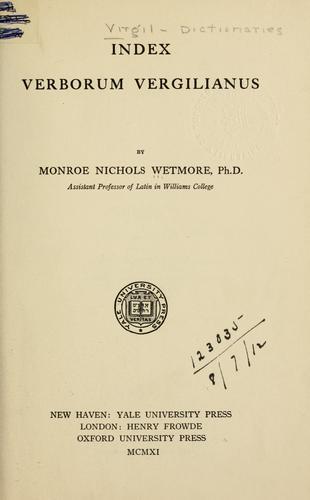 Download Index verborum Vergilianus.