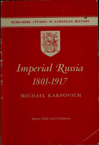 Download Imperial Russia, 1801-1917