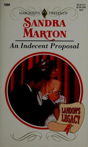 An indecent proposal by Sandra Marton