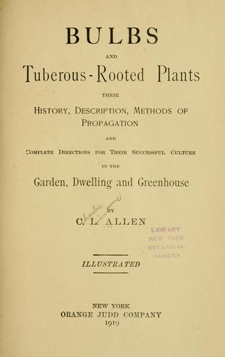 Download Bulbs and tuberous-rooted plants