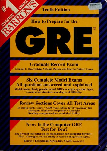 Download How to prepare for the graduate record examination