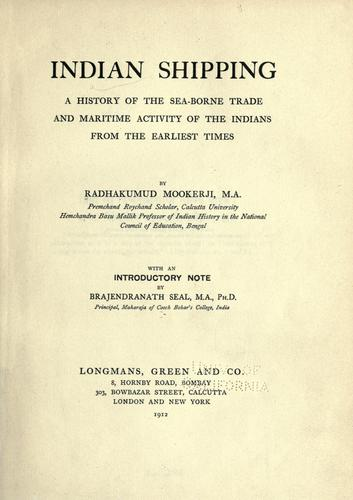 history Indian shipping