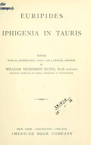 Euripides Iphigenia in Tauris