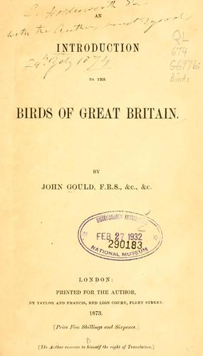 Download An introduction to the birds of Great Britain