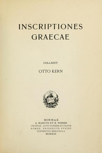 Inscriptiones graecae.