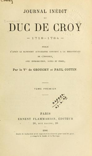Download Journal inédit, 1718-1784