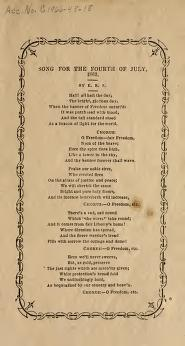 Song for the Fourth of July (1862)