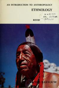 Cover of: An introduction to anthropology   Victor Barnouw