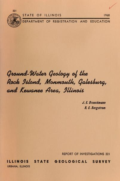 Ground-water geology of the Rock Island, Monmouth, Galesburg, and Kewanee area, Illinois by John E. Brueckmann