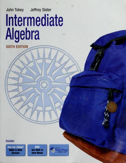 Intermediate algebra by John Tobey