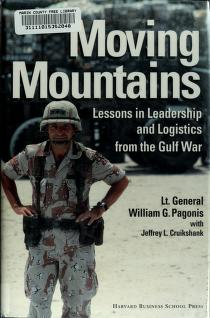 Cover of: Moving mountains | William G. Pagonis