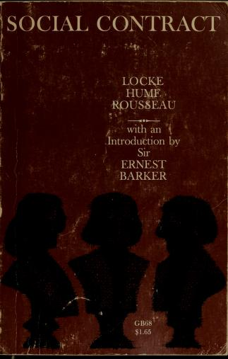 Cover of: Social contract by Ernest Barker