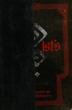 Cover of: Wer ist's? | Herrmann A. L. Degener