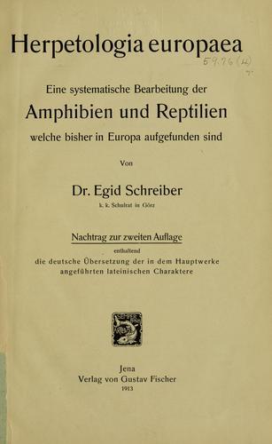Herpetologia europaea