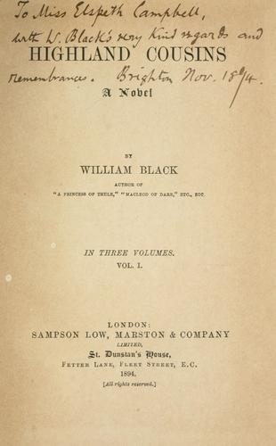 Highland cousins by Black, William
