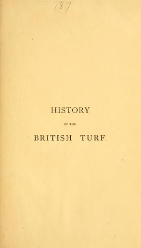 History of the British turf by Rice, James
