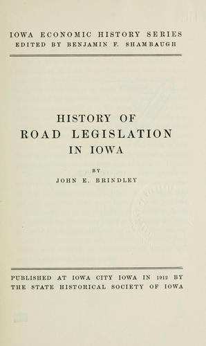 History of road legislation in Iowa